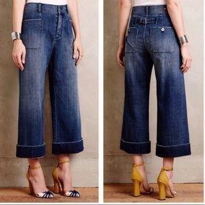 Pilcro Letterpress Sailor Wide Leg HighWaist Jeans